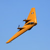 The Northrop N-9M flying wing banks past the crowd at the 2014 Planes of Fame airshow in Chino, CA.