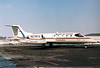 Berlin Air Rescue Gates Learjet 25D Nuremberg (NUE / EDDN) Germany, March 7, 1987 Reg: N279TG  Cn: 25D-265 Operated by Tempelhof Airways mainly for ambulance flights.