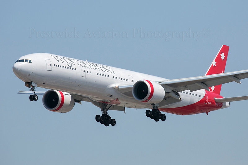 VH-VPF. Boeing 777-3ZG ER. Virgin Australia Airlines. Los Angeles. 100913.