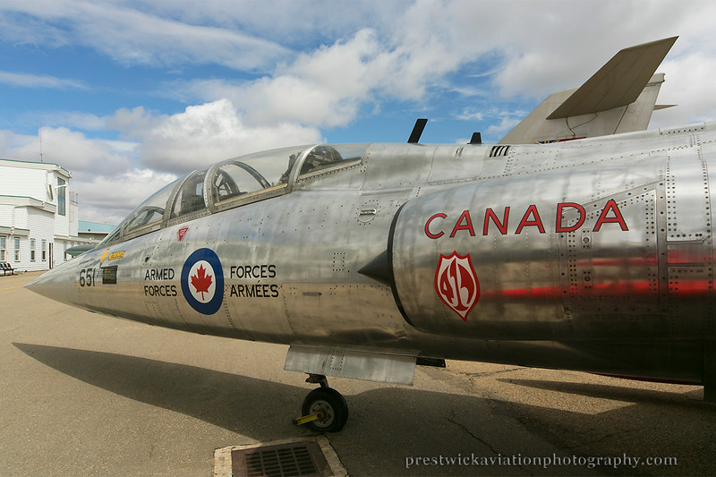 104651. Canadair CF-104D Starfighter. RCAF.  Alberta Aviation Museum. 100514.