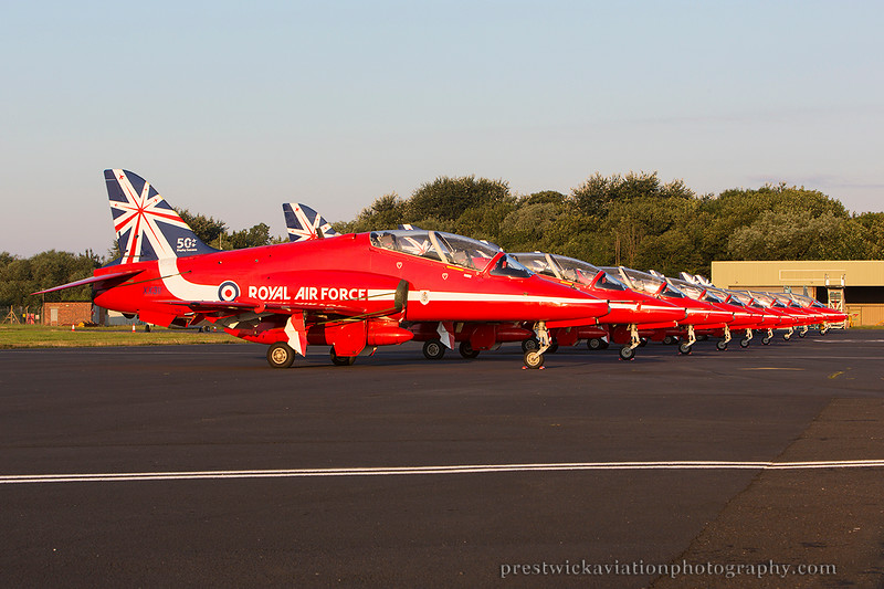 XX311. British Aerospace Hawk T1. RAF. Prestwick. 240714.