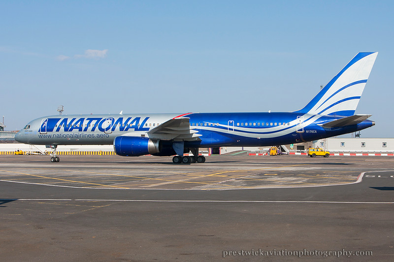 N176CA. Boeing 757-28A. National Airlines. Prestwick. 250714.
