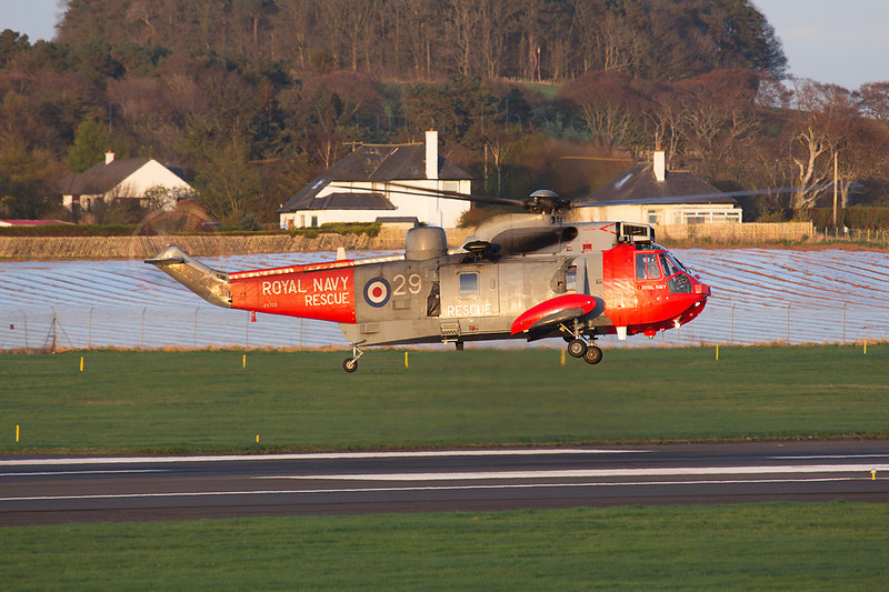 XV705. Westland Sea King HU 5SAR. Royal Navy. Prestwick. 140414.