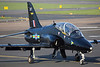 XX287. British Aerospace Hawk T1. RAF. Prestwick. 150414.