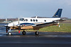 N37200. Beechcraft C90GT King Air. Private. Prestwick. 070314.  Very smart looking King Air.