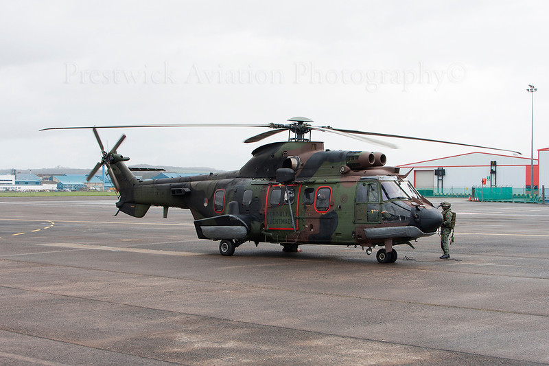 S-419. Eurocopter AS 532UC Cougar. Netherlands Air Force. Prestwick. 090414.