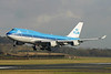 PH-BFS. Boeing 747-406M. KLM. Prestwick. 220205.  One of 2 crew training 747`s that day.