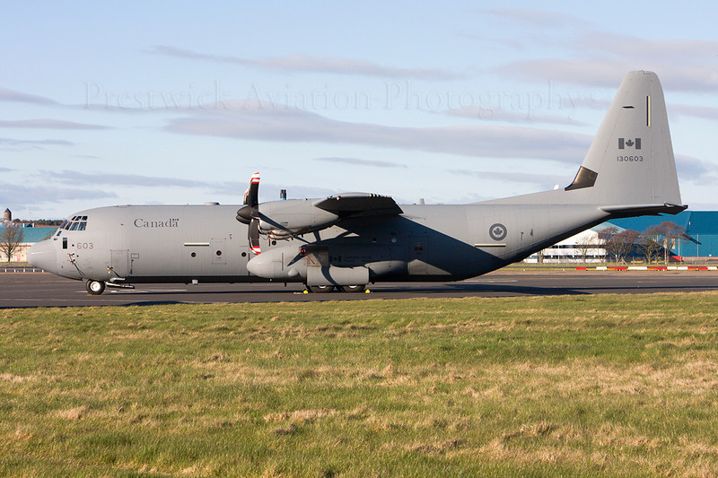 130603. Lockheed Martin CC-130J-30 Hercules. Canadian Air Force. Prestwick. 270311.
