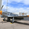 P-51 Mustang, Crusader laying over at the Colorado Springs Airport
