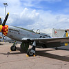 P-51 Mormon Mustang laying over at the Colorado Springs Airport