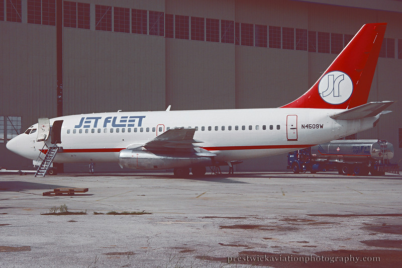 N4509W. Boeing 737-247. Jet Fleet. Orlando. June 1992.