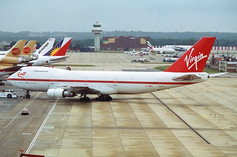 G-VGIN. Boeing 747-243B. Virgin Atlantic. Gatwick. 1990`s.