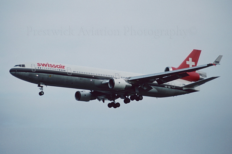 HB-IWI. McDonnell Douglas MD-11. Swissair. Heathrow. June 1993.