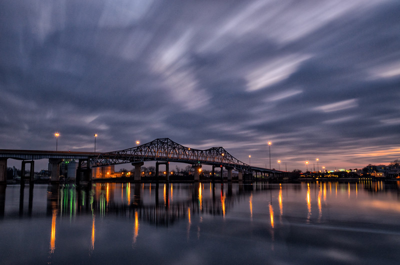 Winter solstice sunset over the Tennessee River