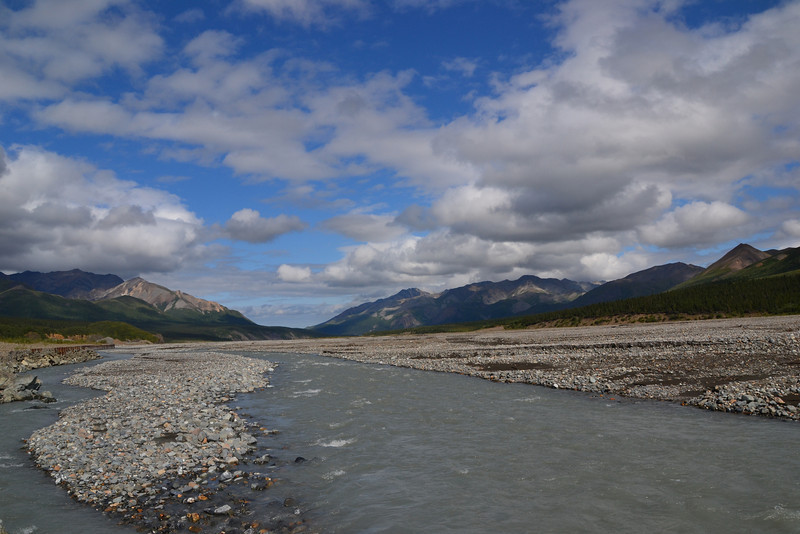 Toklat river, Denali National Park, Alaska