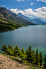 Upper Waterton Lake and mountains in Waterton Lakes National Park, Alberta, Canada.