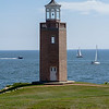 Avery Point Lighthouse Sailing Scene