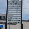 The Mystic River Park directory sign.