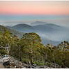 Mt Faulkner Draped in Smoke - Hobart, Tasmania