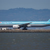 Korean Air 777 Lining Up At SFO