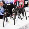 Camera tripods from WB Products Group. Consumer Electronics Show (CES) 2015 - Las Vegas, NV, USA