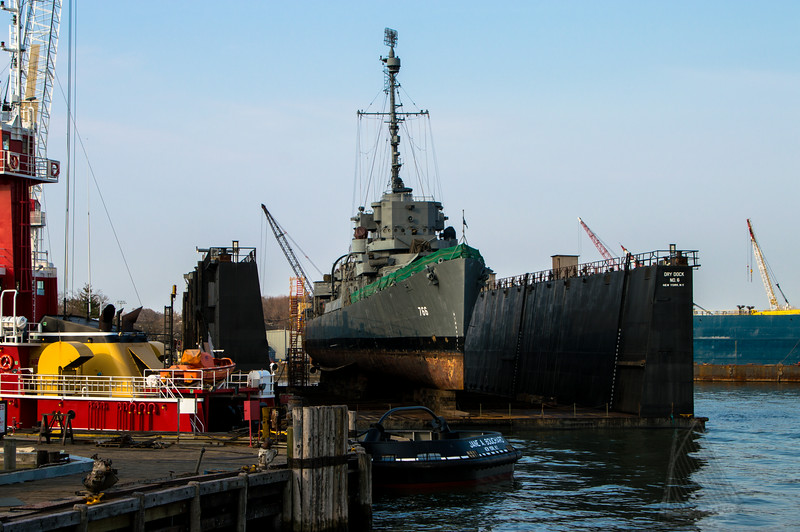 USS Slater at Caddell's Dry Dock