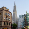 Columbus Tower (Right) and Transamerica Pyramid. San Francisco, CA, USA