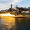 Sunset. USS Midway Museum. Tuna Harbor Park - San Diego, CA, USA