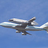 Space Shuttle Endeavour Flyover - NASA Moffett Field - Mountain View, CA, USA