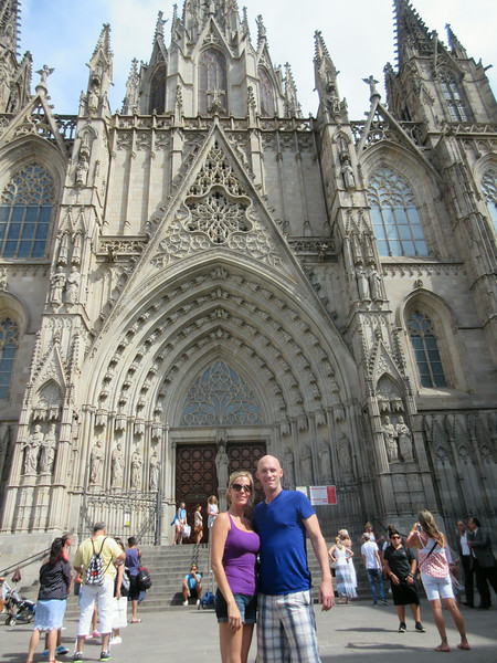 Barcelona Cathedral in Barcelona, Spain - Honeymoon 2014