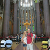 Inside the Sagrada Familia in Barcelona, Spain - Honeymoon 2014