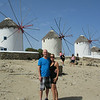 The famous windmills in Mykonos, Greece - Honeymoon 2014