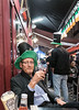 17 March 2015: today, we are all Irish and I raise a pint of Guinness at the Six Nations pub in Brussels (photo by Peter Dzwig).