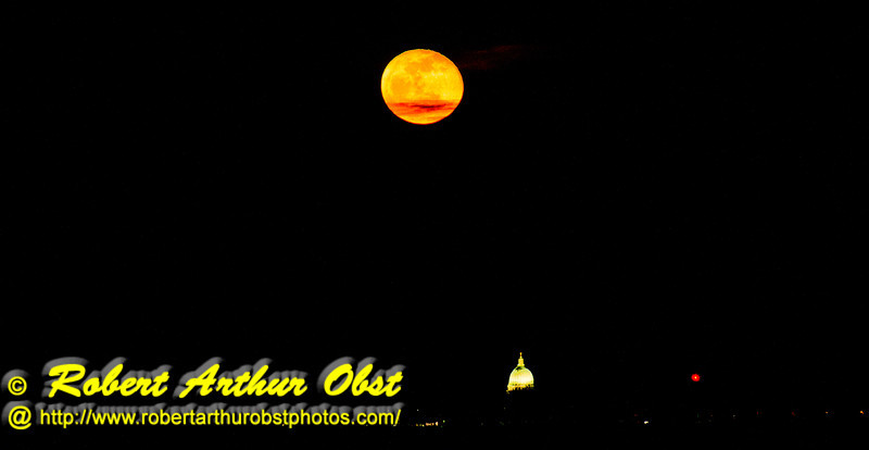 Gorgeous full 2013 Vernal Equinox early spring Moon rising over Lake Mendota and the Wisconsin state capitol of Madison as observed from near the outlet of Pheasant Branch Creek Conservany (USA WI Middleton; Obst FAV Photos 2013 Nikon D800 Daily Best Obst Image 8455)