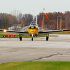 N7810C - Beech T-34A Mentor - Headed for the Tarmac at KLPR!<br /> <br /> © 2010 Paul L. Csizmadia  All Rights Reserved  No Use Allowed without Permission<br /> <br /> N7810C a privately owned T-34A Mentor (Beech A45) heads for the ramp at KLPR (Lorain County Regional Airport) after a hop in the skies over Northern Ohio.<br /> <br /> Developed by Beechcraft as a 'Primary Flight Trainer' the T-34A was operated by the Air Force with over 450 being built for the USAF.  Other variant models served with the US Navy and Marine Corps, as well as other militaries around the world.<br /> <br /> This particular T-34A Mentor was built in 1955.