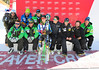 The U.S. Ski Team celebrates Ted Ligety's win in the Audi Birds of Prey giant slalom at Beaver Creek. (U.S. Ski Team/Tom Kelly)