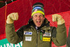 SCHLADMING, AUSTRIA - FEBRUARY 11: Sasha Rearick Head Coach for the men's alpine team celebrates Ted Ligety's victory in the Alpine FIS Ski World Championships Super Combined race on February 11, 2013 in Schladming, Austria, (Photo by Mitchell Gunn/ESPA) Image may be used for editorial purposes only.