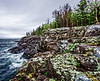 The eautiful cliffs at Acadia