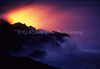 Pu'u 'O'o Volcano, Steam From Lava Hitting Pacific Ocean Waves, Hawaii, Hawaii