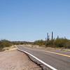 Arizona highways through Saguaro cactus park