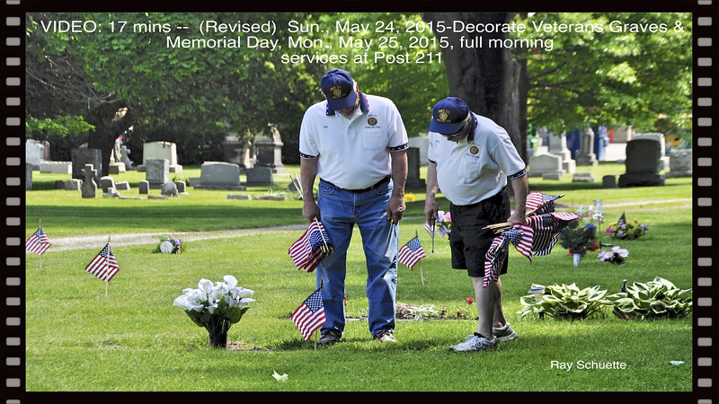VIDEO:  ( 16 1/2 mins )  Grave Decoration & full morning services at Post 211 Revised