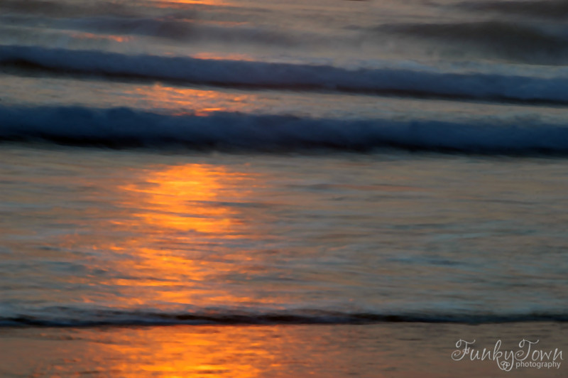 Waves at sunset - long exposure - Nature Stock Image by Professional Nature Photographer Christina Craft