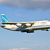 Antonov Design Bureau's An-124 Ruslan (UR-82027) on final for 24R at Cleveland Hopkins Airport.