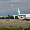 A couple of heavies at Hopkins, the FedEx A300 looks tiny compared to the An-124!