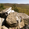 Every overlook at Hawk Mountain is well stocked with large rocks.