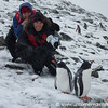 Dan and Audrey with Penguins - Antarctica