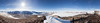 360 degree panorama from the repeater site on Mount Voslips looking down towards Lake Fryxl and across McMurdo Sound to Mount Erebus in the distance.