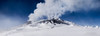 Near the summit of Mount Erebus on a foggy steamy day.