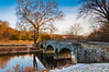 Winter evening at Burnside Bridge, in Antietam National Battlefield, Maryland