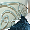 GORGEOUS queen sized four poster bed!  Detail is scrolling metal!